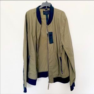 All saints NWT xxl khaki green men bomber jacket